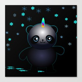 Glow in the Dark Pandacorn Canvas Print