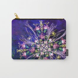 Abstract delicate silk flowers Carry-All Pouch