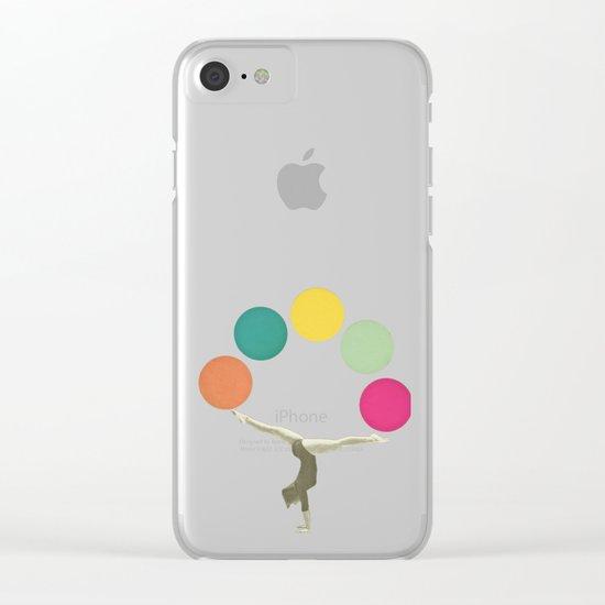 Gymnastics II Clear iPhone Case