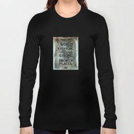 A heroic stance Long Sleeve T-shirt