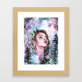The cold breath Framed Art Print