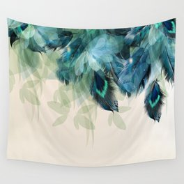 Beautiful Peacock Feathers Wall Tapestry
