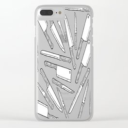 Kitchen Knives Clear iPhone Case