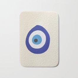 Blue Evil Eye Bath Mat