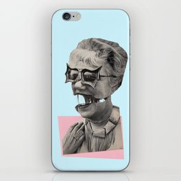 Retreat to the empty safety of the womb iPhone Skin