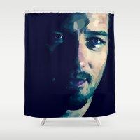 derek hale Shower Curtains featuring Peter Hale by Finduilas