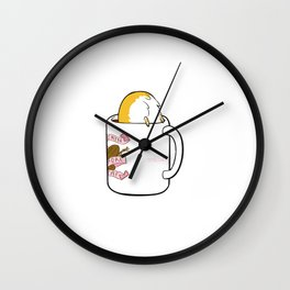 Crazy for Coffee Corgi Wall Clock
