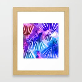 Funky Shell Texutre Framed Art Print