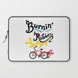 Burning Rubber bike Laptop Sleeve