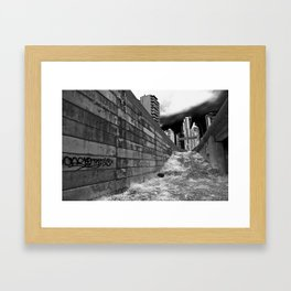 The Lonely City - graffiti alley Framed Art Print