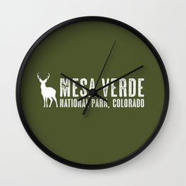 Deer: Mesa Verde, Colorado Wall Clock