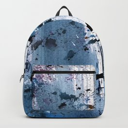 Breathe [6]: colorful abstract in black, blue, purple, gold and white Backpack