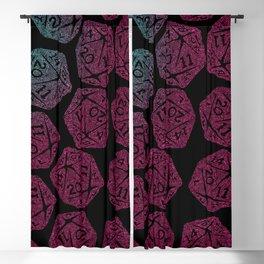 d20 dice pattern - darker gradient pastel - icosahedron Blackout Curtain