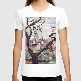 French Provenance Watercolor Artwork in Surrealism Style T-shirt