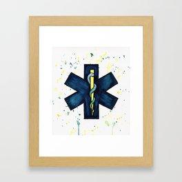 EMT Hero Framed Art Print