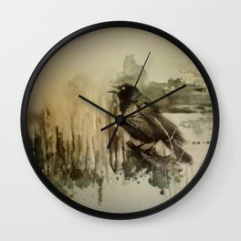 Call Of The Grackle Wall Clock