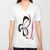 wiz khalifa V-neck T-shirts featuring Wiz by Je Nie Fleming