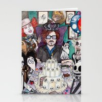 tim burton Stationery Cards featuring TIM BURTON TEA PARTY by VINCE