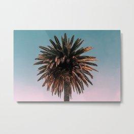 Amazing Palm Tree Gradient Sunset Metal Print