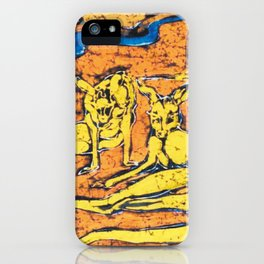 Kangaroos, AUSTRALIA iPhone Case