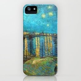 Starry Night Over the Rhone River by Vincent van Gogh iPhone Case