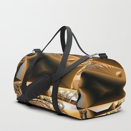 Golden layers of mysterious details Duffle Bag