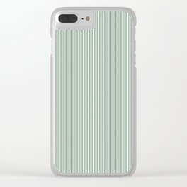 Classic Small Green Boot Green French Mattress Ticking Double Stripes Clear iPhone Case