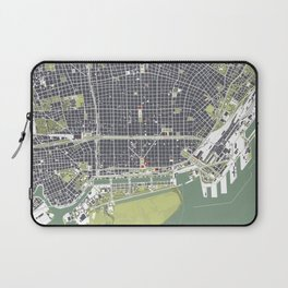 Buenos aires city map engraving Laptop Sleeve