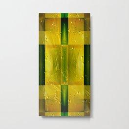 Gold&green pattern Metal Print