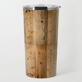 Wood Planks Dark Travel Mug
