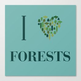I heart Forests Canvas Print