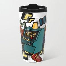 Retro arcade game machine. Metal Travel Mug