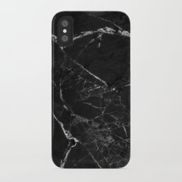 Black Marble Print II iPhone Case