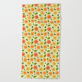 Fresh Floral Beach Towel