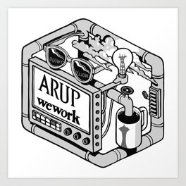 Arup WeWork West Project Patch Art Print
