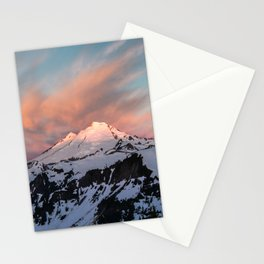 Mount Baker Mountain Adventure Sunset - Nature Photography Stationery Cards