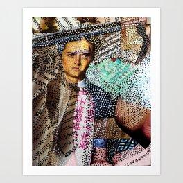 Man and Machine - Magazine Collage Painting Art Print