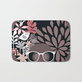 Afro Diva : Sophisticated Lady Pale Pink Peach Taupe Bath Mat