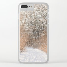 Snow Covered Trails Clear iPhone Case