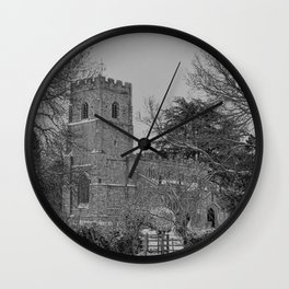 St Botolph's Church, Rugby Black and White Wall Clock