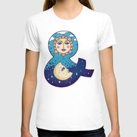sun and moon T-shirts featuring sun loves moon by Lidija Paradinović Nagulov - Celandine