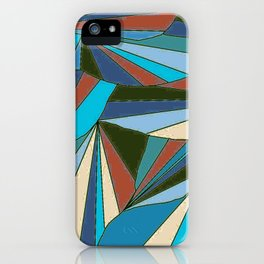 blues in triangle pattern iPhone Case