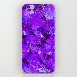 Fractured Blue-Violet Texture iPhone Skin