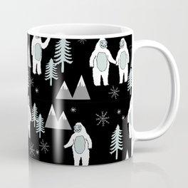 Yeti winter christmas cute forest pattern kids nursery holiday gifts Coffee Mug