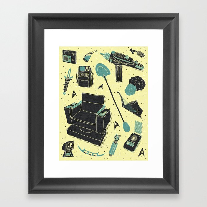 Artifacts: Star Trek Framed Art Print