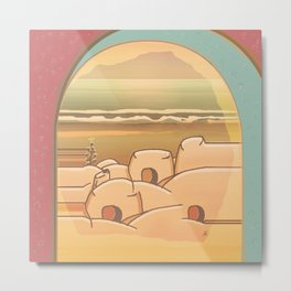 Beached Labyrinth Metal Print