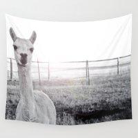 llama Wall Tapestries featuring Llama by PoseManikin