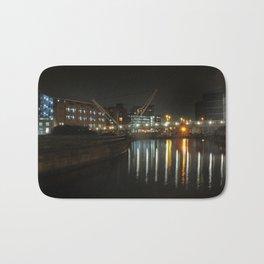 city at night - knights bridge leeds Bath Mat