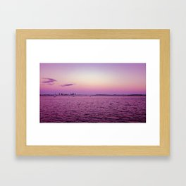 Purple haze on the biscayne Framed Art Print