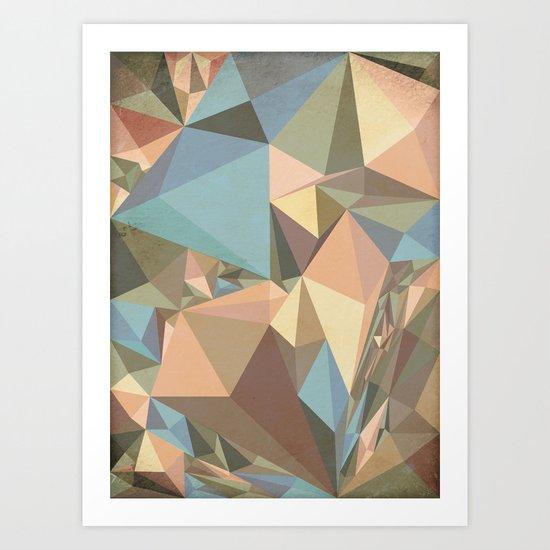 Renaissance Triangle Pyramids Art Print